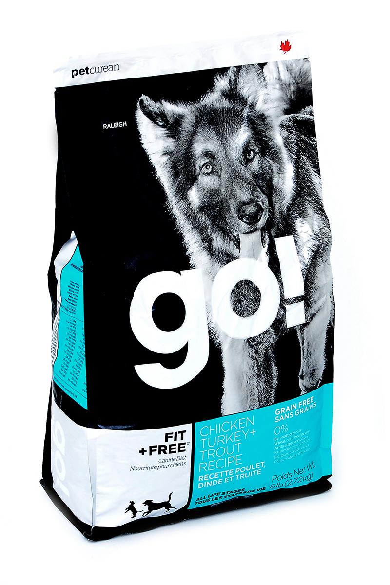 Корм сухой для собак Go!, беззерновой, с индейкой, курицей, уткой и лососем, 2,72 кг0120710Сухой корм Go!- это первый беззерновой корм, который является полностью сбалансированным питанием для собак разных возрастов и с разной активностью. Корм содержит четыре вида мяса: филе индейки, курицы, утки и лосося без костей. Он обладает сбалансированным содержанием белков и жиров и не содержит субпродуктов, искусственных красителей, ароматизаторов и консервантов.Состав: свежее мясо курицы, свежее мясо индейки, свежее мясо лосося, филе курицы, филе индейки, филе форели, картофель, горох, тапиока, чечевица, горошек, утиное филе, куриный жир (источник витамина Е), натуральный куриный ароматизатор, свежие цельные яйца, яблоки, сельдь, масло лосося, люцерна, утиное филе, филе лосося, сладкий картофель, рапсовое масло, кокосовое масло (источники витамина Е), льняное семя, хлорид калия, тыква, морковь, бананы, черника, клюква, брокколи, шпинат, ростки люцерны, ежевика, кабачки, папайя, гранат, сухой корень цикория, Lactobacillus, Enterococcusfaecium, Aspergillus, витамины (витамин А, витамин D3, витамин Е, инозитол, ниацин, L-аскорбил-2-полифосфатов (источник витамина С), D-пантотенат кальция, мононитрат тиамина, бета-каротин, рибофлавин , пиридоксина гидрохлорид, фолиевая кислота, биотин, витамины В12), минералы (цинка протеинат, железа протеинат, меда протеинат, оксид цинка, марганца протеинат, сульфат меди, сульфата железа, йодат кальция, оксид марганца, селена, дрожжей), хлорид натрия, таурин, экстракт Юкка Шидигера, сушеный розмарин, экстракт зеленого чая, мята, петрушка, шиповник, одуванчик, ромашка, имбирь, фенхель, куркумы, ягоды можжевельника, солодка, экстракт календулы, кардамон, гвоздика. Гаратированный анализ: белки 34%, жиры 16%, клетчатка 3%, влажность 10%, кальций 2%, фосфор 1,2%, жирные кислоты Омега 6 (min) 2,2%, жирные кислоты Омега-3 (min) 0,45%, Лактобактерии (Lactobacillus acidophilus, Enterococcus faecium) 90000000 cfu/lb.Калорийность: 3951 ккал/кг.Вес: 2,7