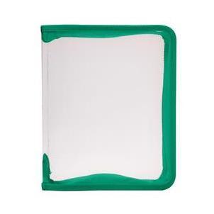 Папка (В5) на молнии, цвет: зеленый50058