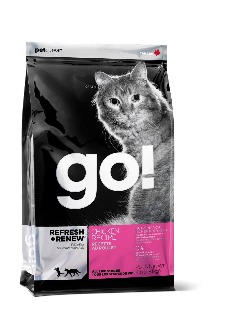 Корм сухой Go! для кошек и котят, с курицей, фруктами и овощами, 1,81 кг0120710Корм для котят и кошек Go! - полноценный корм обогащенный питательными веществами, обеспечивающий здоровье и активность вашего питомца на протяжении всей его жизни. В состав корма входят высококачественные источники белков, фрукты и овощи, богатые антиоксидантами и все необходимые жирные кислоты. Ключевые преимущества: - Полностью беззерновой, - Не содержит субпродуктов, красителей, говядины, мясных ингредиентов, выращенных на гормонах, - Превосходный вкус, - Мелкие крокеты будут по вкусу самым привередливым кошкам, - Таурин необходим для здоровья глаз и нормального функционирования сердечной мышцы,- Сложные углеводы - отличный источник энергии, - В составе Омега-кислоты необходимые для здоровой кожи и шерсти, - Антиоксиданты укрепляют иммунную систему. Состав: свежее мясо курицы, филе цыпленка, коричневый цельный рис, цельный белый рис, овсянка, куриный жир (источник витамина Е), мясо лосося, натуральный куриный ароматизатор, подсолнечное масло, рисовые отруби, яблоки, морковь, картофель, клюква, льняное масло, свежие цельные яйца, масло лосося, люцерна, фосфорная кислота, калия хлорид, таурин, витамины (витамин Е, L-аскорбил-2-полифосфатов (источник витамина С), никотиновая кислота, инозит, витамин А, тиамина мононитрат, D-кальций пантотенат, пиридоксина гидрохлорид, рибофлавин, бета-каротин, витамин D3, фолиевая кислота, биотин, витамин В12), минералы (цинка протеинат, сульфат железа, оксид цинка, железа протеинат, сульфат меди, меди протеинат, марганца протеинат, оксид марганца, йодат кальция, селенит натрия), DL-метионин, сухой корень цикория, экстракт юкка шидигера, сушеный розмарин. Анализ:белок 32,0%, жир 20,0%, клетчатка 2,5%, влажность 10,0%, зола 6,5%, фосфор 0,8%, таурин 2050 мг/кг, омега-6 жирная кислота 3,2%, омега-3 жирная кислота 0,63%.Энергетическая ценность: 4604 ккал/кг. Вес: 1,81 кг.Товар сертифицирован.