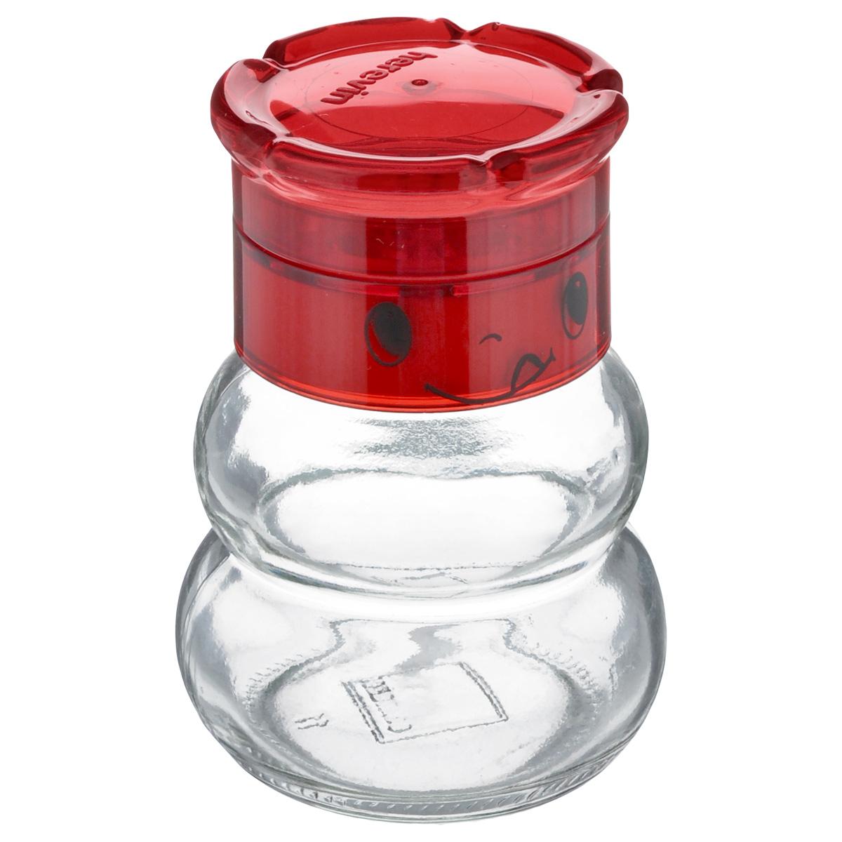Перцемолка Solmazer, цвет: прозрачный, красный, 200 млFD-59Перцемолка Solmazer предназначена для помола перца и других специй. Изделие, выполненное из стекла и прочного пластика, идеально подходит для сервировки стола. Перцемолка Solmazer добавит вашим блюдам яркие вкусовые краски. Созданная из высококачественных материалов и имеющая запатентованный и оригинальный механизм, перцемолка станет незаменимым атрибутом на вашем столе. Она удобна в использовании и имеет оригинальный современный дизайн, который станет ярким акцентом в интерьере вашей кухни.Диаметр основания: 6 см. Высота: 10 см.Объем: 200 мл.
