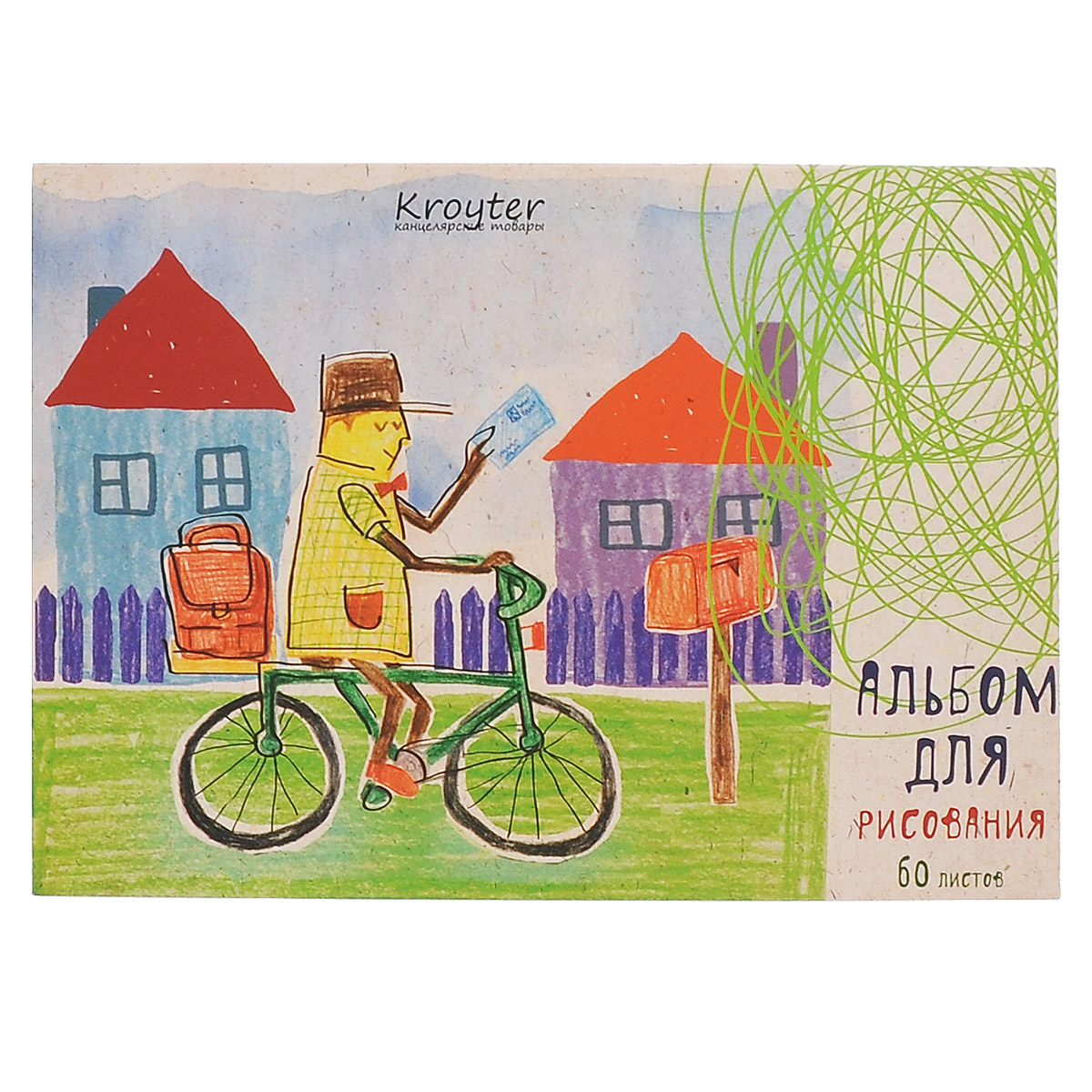 Альбом для рисования Kroyter, формат A5, 60 листов0703415Альбом Kroyter предназначен для эскизов и рисования, подходит для работ тушью. Внутренний блок - на склейке с твердой картонной подложкой, что позволяет использовать альбом вне дома. Обложка, изготовленная из высококачественного импортного картона, имеет стильный и современный дизайн.