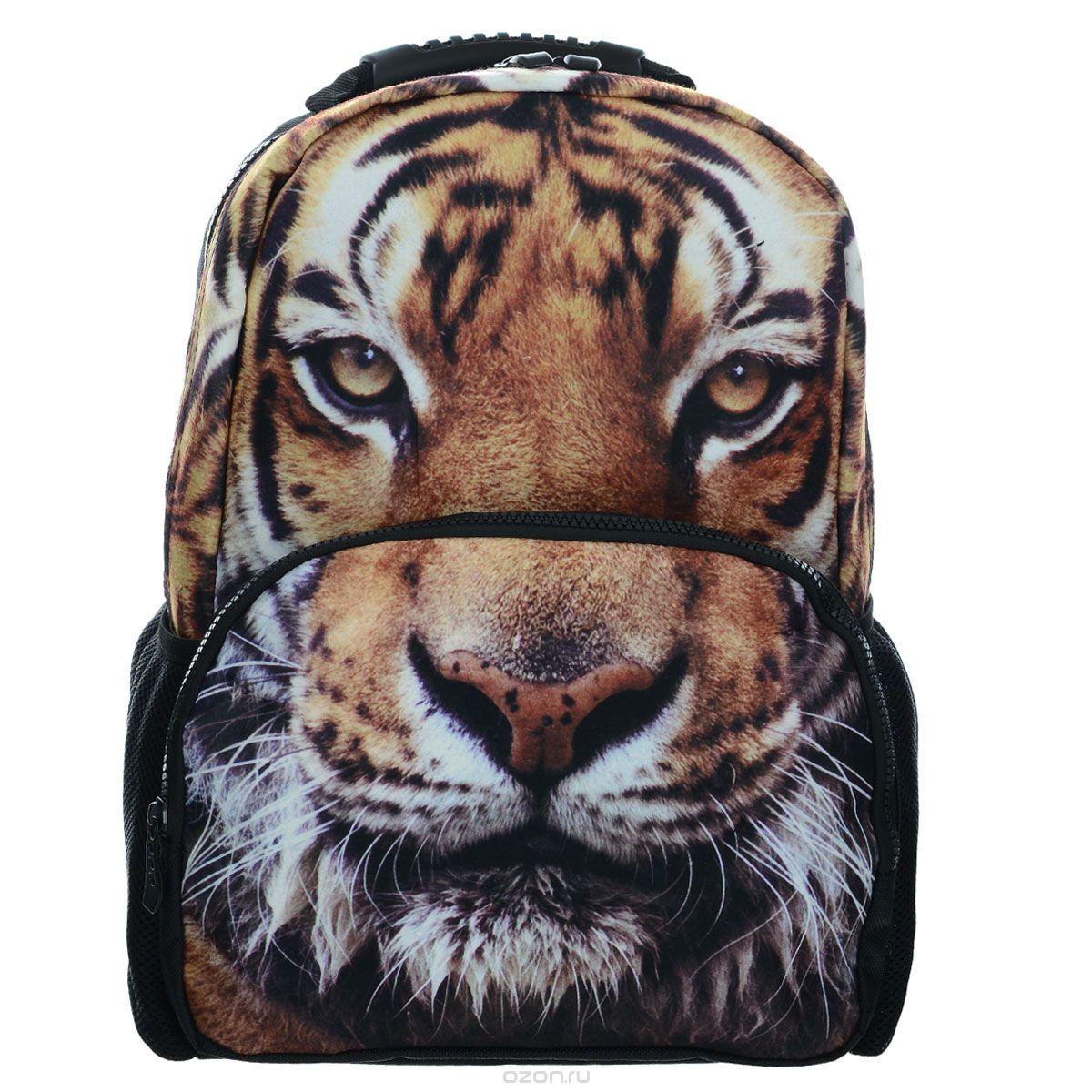 Рюкзак школьный Trend Line Tigers, цвет: черныйPRCB-UT4-4018Стильный школьный рюкзак Trend Line выполнен из полиэстера, дополнен вставкой из флиса, которая оформлена художественной печатью с изображением Tigers. Рюкзак имеет одно основное отделение, закрывающееся на застежку-молнию. Снаружи, на лицевой стороне, рюкзака размещен накладной карман на молнии, внутри которого предусмотрен еще один накладной карман на липучке. С двух сторон изделия расположены два накладных сетчатых кармашка. В верхней части изделия предусмотрена эргономичная ручка для переноски, а также предусмотрены регулируемые лямки. Такой рюкзак станет незаменимым спутником вашего ребенка в походах за знаниями.