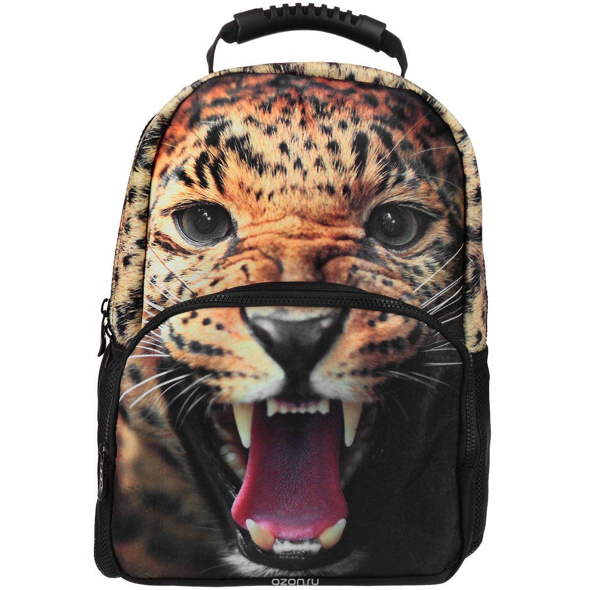 Рюкзак школьный Trend Line Leopard, цвет: черный72523WDСтильный школьный рюкзак Trend Line выполнен из полиэстера, дополнен вставкой из флиса, которая оформлена художественной печатью с изображением леопарда. Рюкзак имеет одно основное отделение, закрывающееся на застежку-молнию. Снаружи, на лицевой стороне, рюкзака размещен накладной карман на молнии, внутри которого предусмотрен еще один накладной карман на липучке. С двух сторон изделия расположены два накладных сетчатых кармашка. В верхней части изделия предусмотрена эргономичная ручка для переноски, а также предусмотрены регулируемые лямки.Такой рюкзак станет незаменимым спутником вашего ребенка в походах за знаниями.