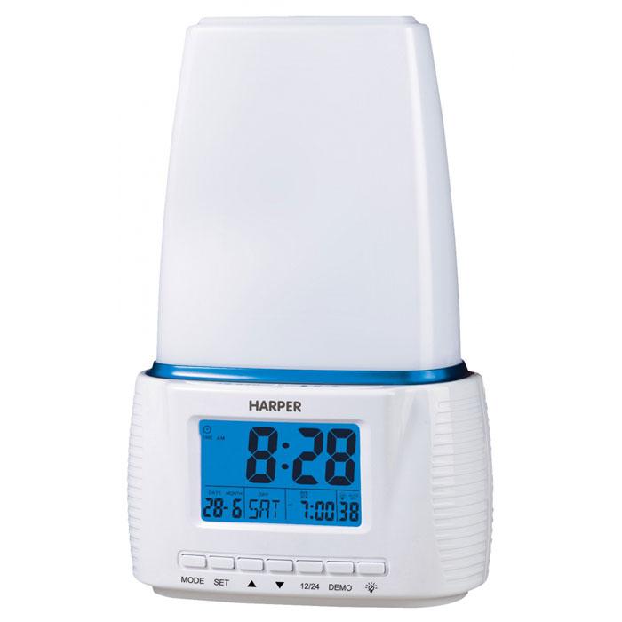 Harper HWUL-878 световой будильникHWUL-878Harper HWUL-878 - продвинутый световой будильник, который обеспечит вам максимально комфортное пробуждение. Отличительными особенностями светового будильника Harper HWUL-878 являются:Пробуждение светом – эффект восхода солнца (время действия 1 минута)Пробуждение звуком - эффект пение птицСветодиодная (LED) энергосберегающая лампаДистанционное включение (включается от хлопка руками)Сенсорное управление светомДиммер4 режима работы будильникаТаймер отключенияМощность светового потока: 200 люменовЦветовая температура: 5000K - 5300KКоличество светодиодов LED: 22Максимальная выходная мощность динамика: 0,5 Вт