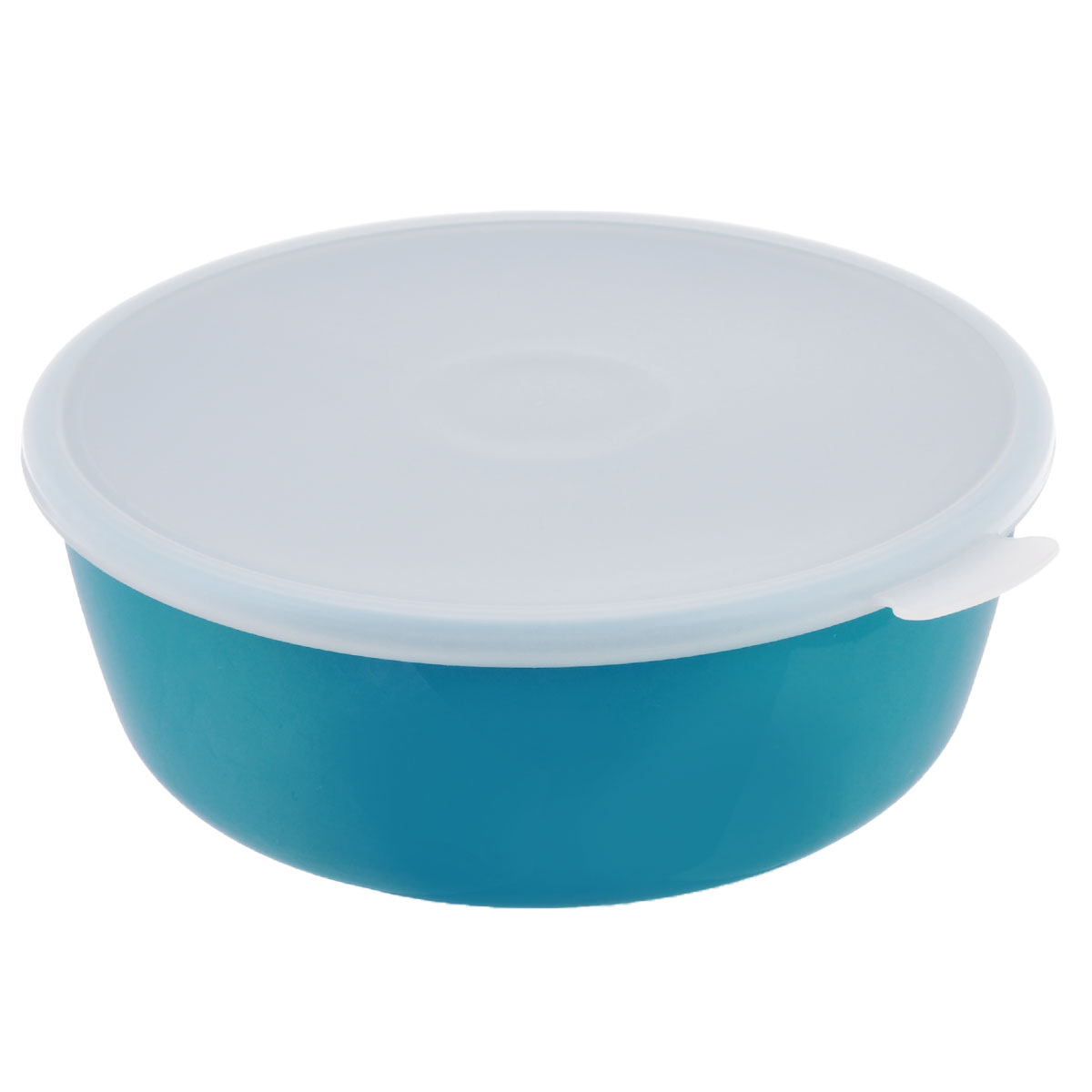 Миска Idea Прованс, с крышкой, цвет: бирюзовый, 2,5 л115510Миска круглой формы Idea Прованс изготовлена из высококачественного пищевого пластика. Изделие очень функциональное, оно пригодится на кухне для самых разнообразных нужд: в качестве салатника, миски, тарелки. Герметичная крышка обеспечивает продуктам долгий срок хранения.Диаметр миски: 22,5 см.Высота миски: 8,5 см.