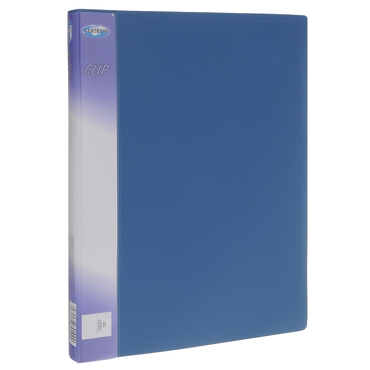 Папка с боковым зажимом Centrum Clip, цвет: синий. Формат А431012Папка с боковым зажимом Centrum Clip - это удобный и практичный офисный инструмент,предназначенный для хранения и транспортировки рабочих бумаг и документов формата А4.Папка изготовлена из прочного пластика и оснащена металлическим зажимом и внутренним прозрачным кармашком.Папка с боковым зажимом - это незаменимый атрибут для студента, школьника, офисного работника. Такая папка надежно сохранит ваши документы и сбережет их от повреждений, пыли и влаги.