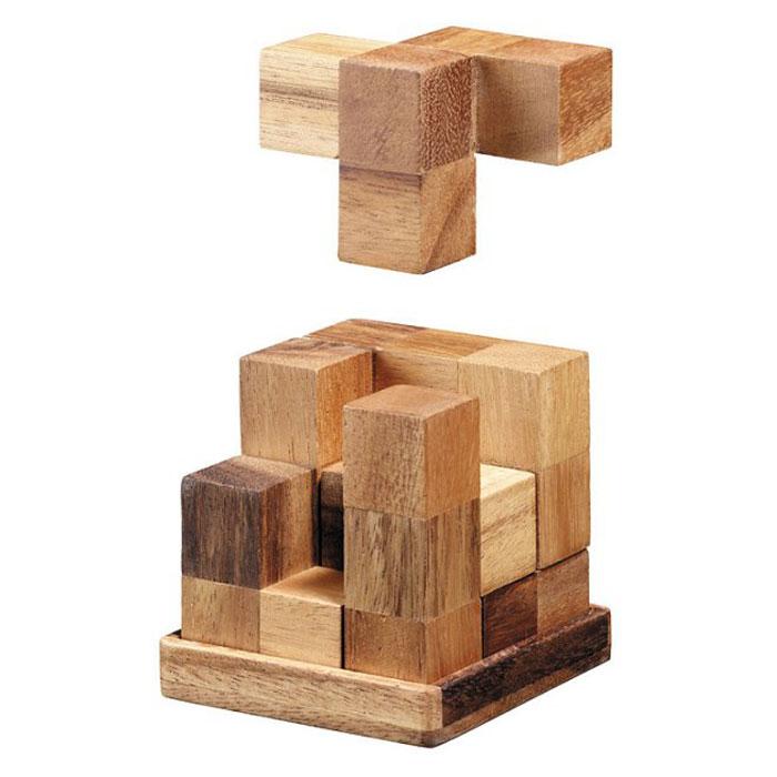 """Головоломка Dilemma """"Куб Энигма"""", выполненная из дерева, станет отличным подарком всем любителям головоломок! Головоломка для одного игрока, выполненная в виде кубика из 6 деревянных элементов. Необходимо разобрать куб и собрать его снова. А также попробовать собрать 5 разных фигур: башню, кристалл, лестницу, собаку в двух вариантах. Головоломка Dilemma """"Куб Энигма"""" стимулирует логику, пространственное мышление и мелкую моторику рук."""