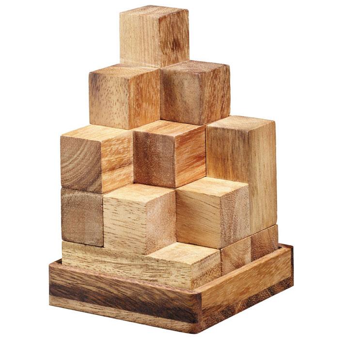"""Головоломка Dilemma """"Кубики Сома"""", выполненная из дерева, станет отличным подарком всем любителям головоломок! Куб состоит из 7 деревянных деталей. Шесть из них состоят из 4 маленьких кубиков, а один - из 3 кубиков. В этом кубе 10 игр. Основная игра - собрать куб 3 х 3 х 3. Говорят, есть 240 способов собрать этот куб. Остальные игры заключаются в том, чтобы собрать из этих 7 деталей другие фигуры. Слишком сложно? Воспользуйтесь подсказкой из предложенного решения. Игра рассчитана на одного игрока. Головоломка Dilemma """"Кубики Сома"""" стимулирует логику, пространственное мышление и мелкую моторику рук."""