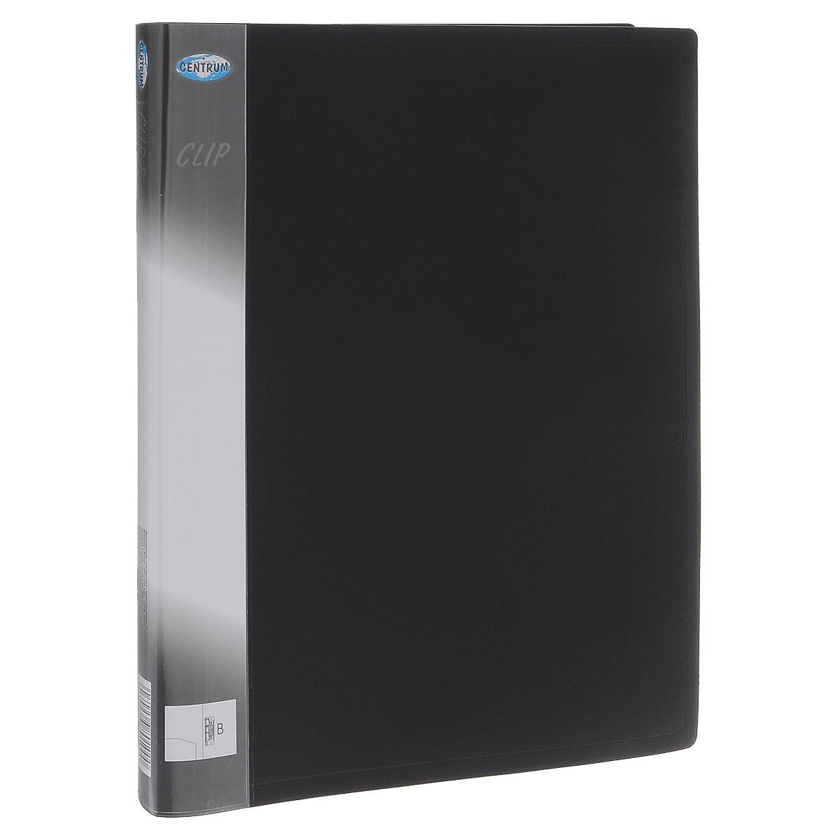 Папка с боковым зажимом Centrum Clip, цвет: черный. Формат А4FS-36052Папка с боковым зажимом Centrum Clip - это удобный и практичный офисный инструмент,предназначенный для хранения и транспортировки рабочих бумаг и документов формата А4.Папка изготовлена из прочного пластика и оснащена металлическим зажимом и внутренним прозрачным кармашком.Папка с боковым зажимом - это незаменимый атрибут для студента, школьника, офисного работника. Такая папка надежно сохранит ваши документы и сбережет их от повреждений, пыли и влаги.