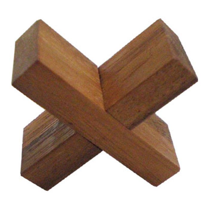 """Головоломка Dilemma """"Раскрути крест"""", выполненная из дерева, станет отличным подарком всем любителям головоломок! Для начала разъедините крест. Пользоваться молотком и прикладывать какую-либо силу запрещено. Нужна подсказка? Тогда попробуйте разобраться в конструкции креста. Головоломка Dilemma """"Раскрути крест"""" стимулирует логику, пространственное мышление и мелкую моторику рук."""