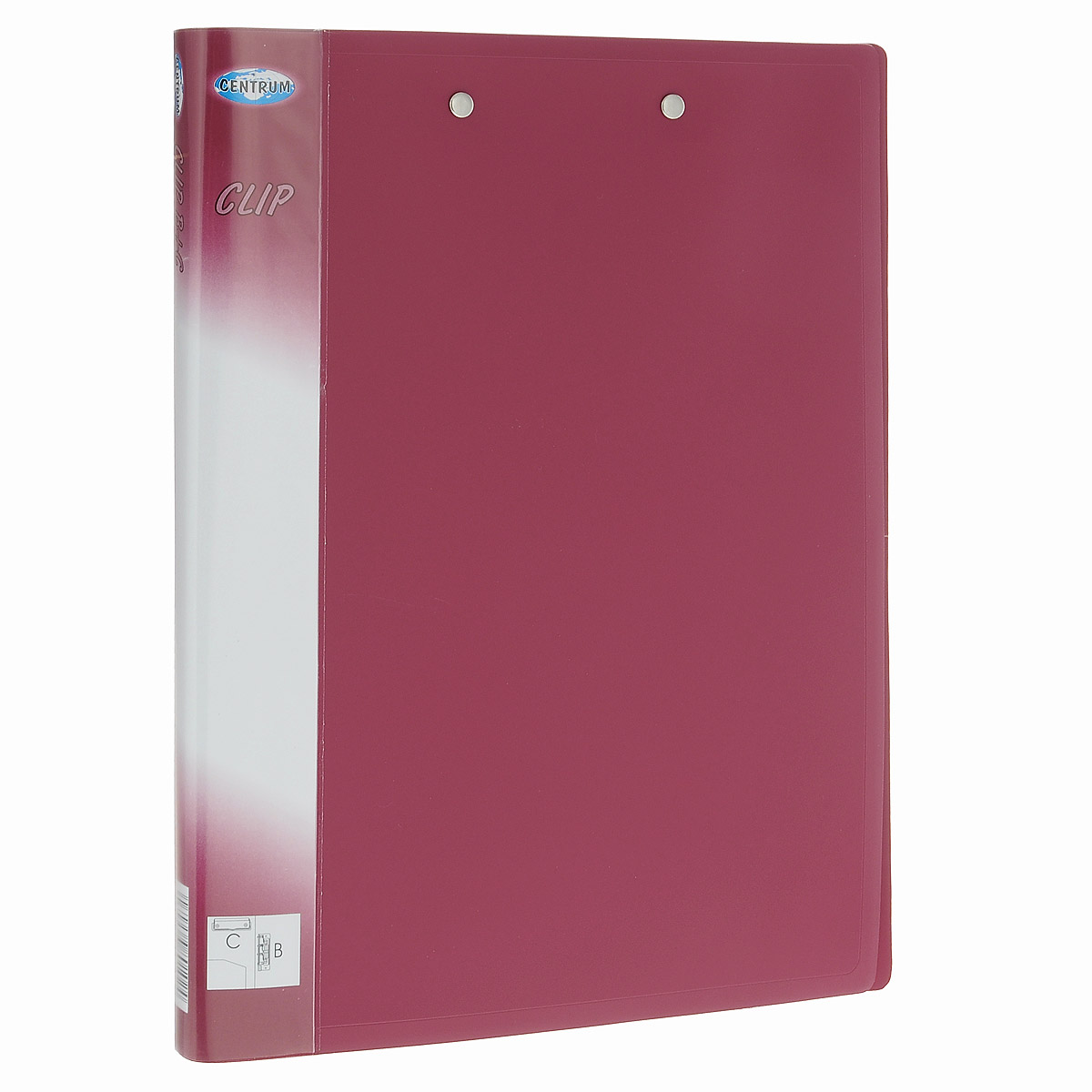 Centrum Папка Clip с боковым и верхним зажимами цвет красныйFS-36052Папка для бумаг Centrum Clip с верхним пружинным механизмом крепления листов и боковым рычажным зажимом изготовлена из прочного пластика красного цвета. Благодаря совершенной технологии производства папка не подвергается воздействию низкой температуры, не деформируется и не ломается при изгибе и транспортировке.Папка специально предназначена для хранения перфорированных листов формата А4.