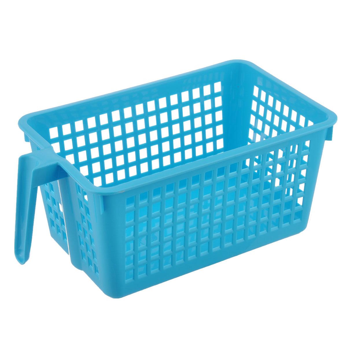 Корзинка универсальная Econova, с ручкой, цвет: голубой, 28 х 16 х 12 смRG-D31SУниверсальная корзинка Econova изготовлена из высококачественного пластика и предназначена для хранения и транспортировки вещей. Корзинка подойдет как для пищевых продуктов, так и для ванных принадлежностей и различных мелочей. Изделие оснащено ручкой для более удобной транспортировки. Стенки корзинки оформлены перфорацией, что обеспечивает естественную вентиляцию. Универсальная корзинка Econova позволит вам хранить вещи компактно и с удобством.