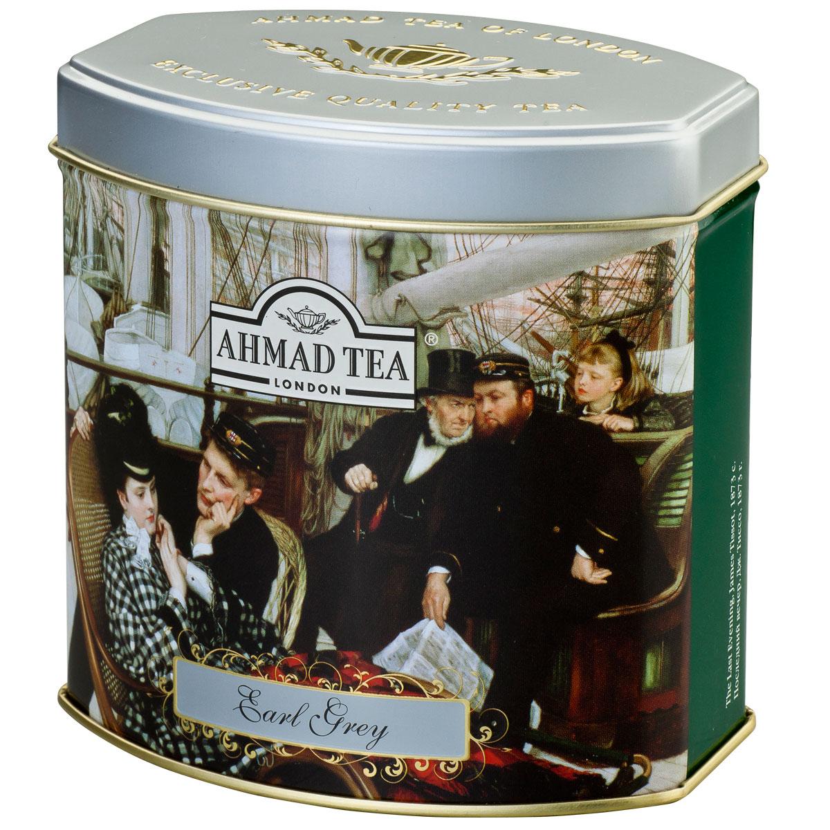 Ahmad Tea Earl Grey черный чай, 100 г (жестяная банка) чай черный ahmad tea earl grey пакетированный