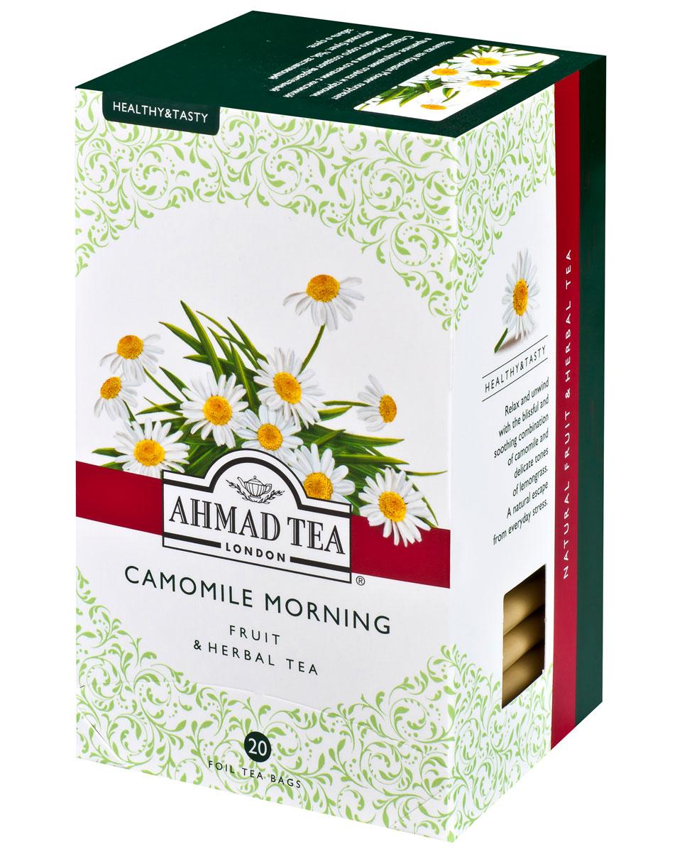 Ahmad Tea Camomile Morning травяной чай в фольгированных пакетиках, 20 шт ahmad tea winter prune черный чай в фольгированных пакетиках 25 шт