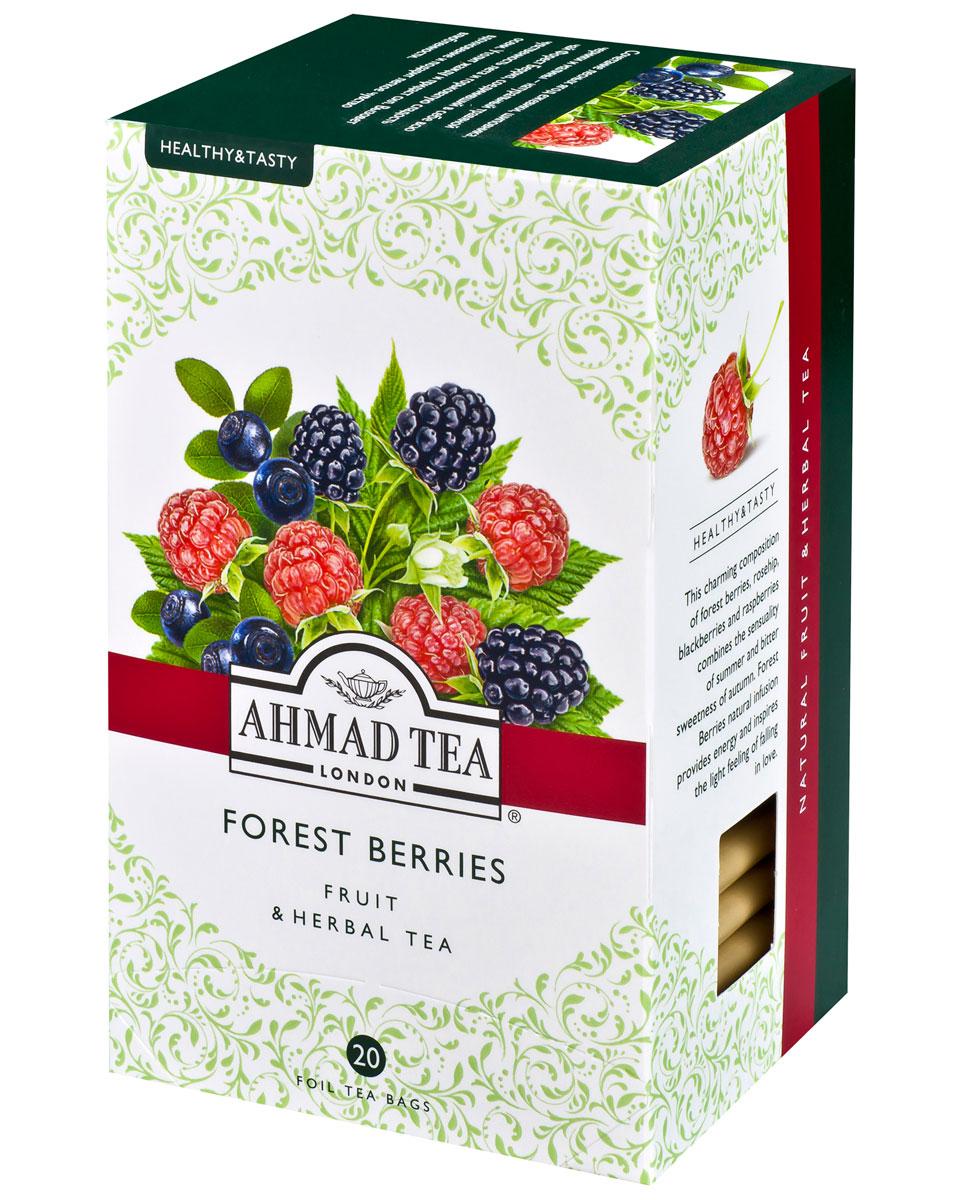 Ahmad Tea Forest Berries травяной чай в фольгированных пакетиках, 20 шт1167Лесные ягоды ежевики, шиповника, черники и малины - натуральный травяной чай Ahmad Forest Berries соединил в себе всю чувственность лета и горьковатую сладость осени. Утолит жажду и придаст сил. Вызовет вдохновение и подарит легкое чувство влюбленности.Заваривать 5 минут.
