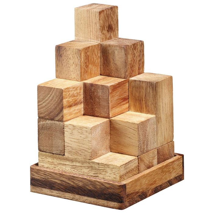 """Головоломка Dilemma """"Кубики Сома"""", выполненная из дерева, станет отличным подарком всем любителям головоломок! Изделие состоит из 7 деревянных элементов. Шесть из них состоят из четырех маленьких кубиков, а один - из трех кубиков. В представленном кубе десять игр. Основная игра - собрать куб. Говорят, имеется 240 способов, чтобы его собрать. Остальные игры заключаются в том, чтобы собрать из этих 7 элементов различные фигуры. Головоломка Dilemma """"Кубики Сома"""" стимулирует логику, пространственное мышление и мелкую моторику рук."""