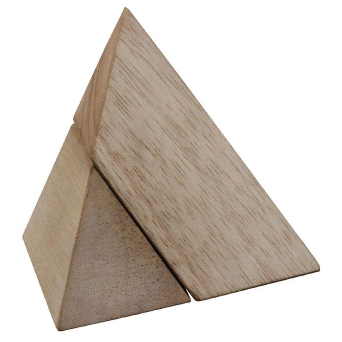 """Головоломка Dilemma """"Пирамида"""", выполненная из дерева, станет отличным подарком всем любителям головоломок! Пазл состоит из 2 одинаковых деревянных деталей. Попробуйте собрать треугольную пирамиду (тетраэдр, в основании которого будет равносторонний треугольник). Слишком сложно? Воспользуйтесь подсказкой из предложенного решения. Игра рассчитана на одного игрока. Головоломка Dilemma """"Пирамида"""" стимулирует логику, пространственное мышление и мелкую моторику рук."""