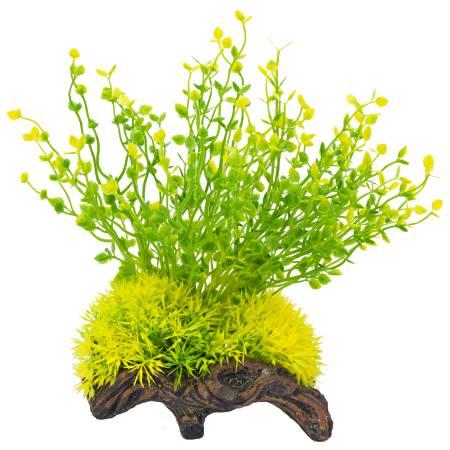 Распылитель декоративный РАСТЕНИЕ НА КОРЯГЕ ж/зеленое - Аксессуары для аквариумов