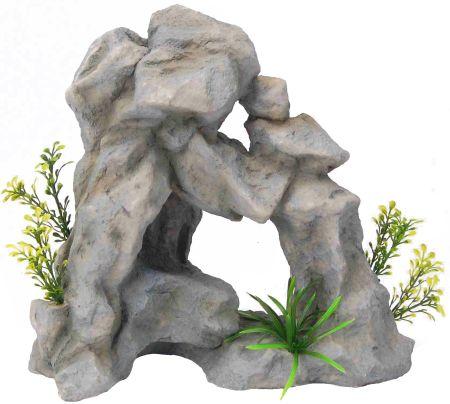 Распылитель декоративный ГРОТ С РАСТЕНИЯМИ0120710Декоративный пластиковый распылитель. Вместе с основной функцией распыления воздуха является эффектным элементом декорирования аквариума.