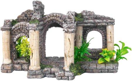 Декорация ПАЛЬМИРА 27,5х13,5х15,5см пластик8707Аквариумные пластиковые декорации в виде затопленных фрагментов античной архитектуры, ставшей предметом восхищения и вдохновения для последующих эпох являются важным элементом эффектного аквариумного интерьера.