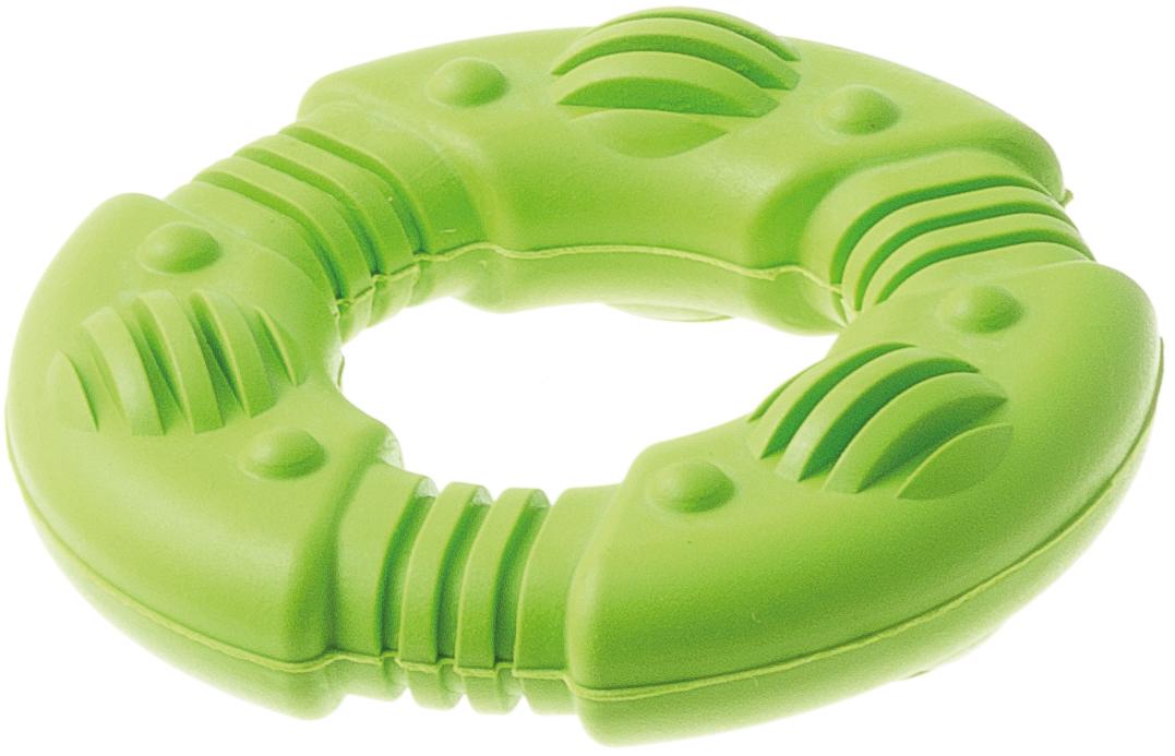 Игрушка для собак Aveva Кольцо рифлёное, для чистки зубов, 7,5 х 7,5 х 2 см0120710Игрушка Aveva Кольцо рифлёное изготовлена из высококачественной резины с использованием только безопасных, не токсичных красителей. Привлечет внимание вашего любимца, позволит весело провести ему время, не навредит здоровью, а также поможет вам сохранить в целости личные вещи и предметы интерьера.Рифленая поверхность на игрушке прекрасно массирует десна и чистит зубы.