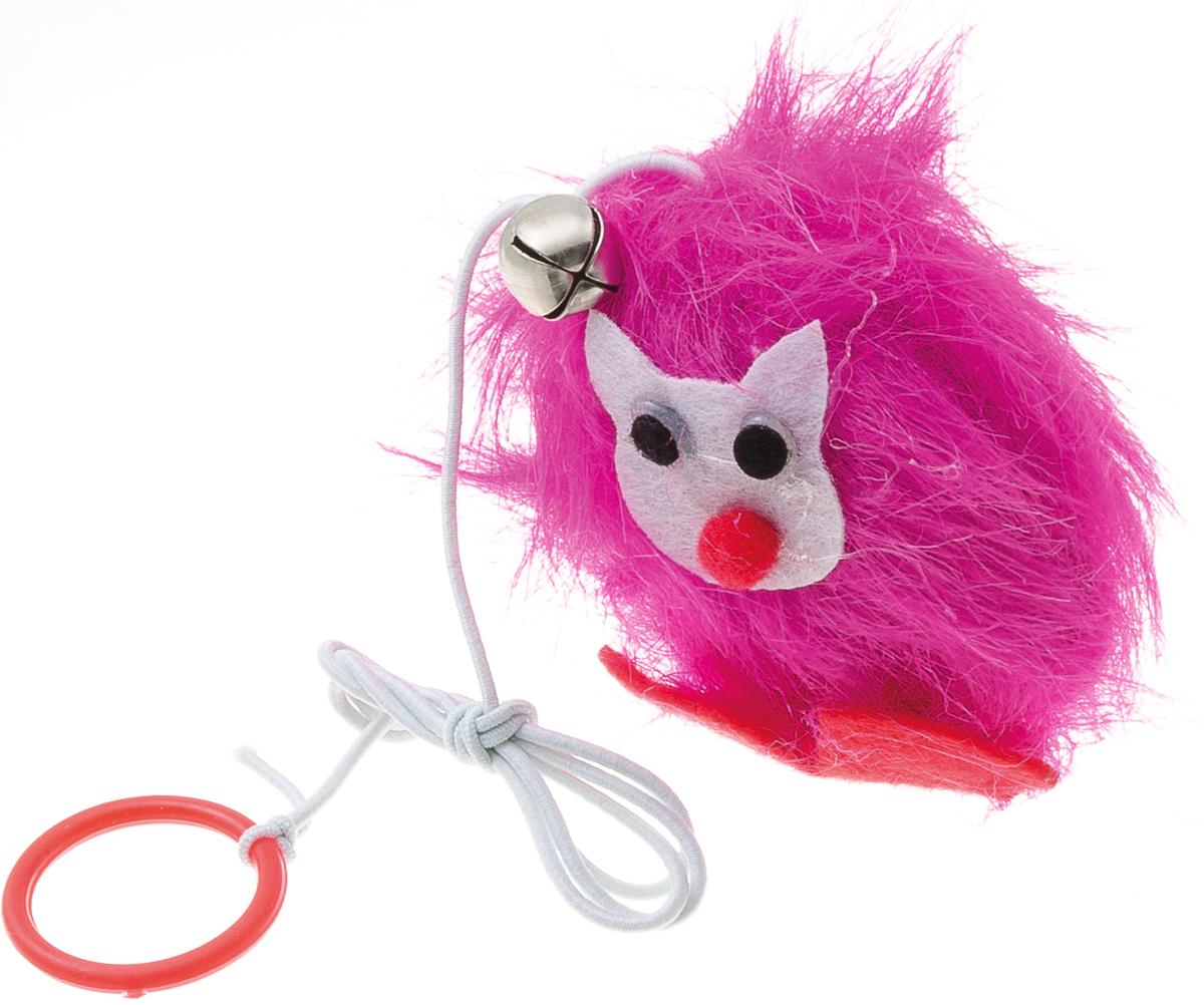 Игрушка для кошек V.I.Pet Лиса, с мятой игрушка для кошки плюшевый мяч с бубенчиком с кошачьей мятой zoobaloo