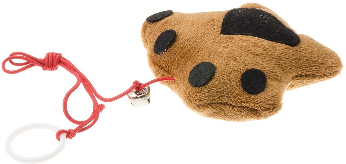 Игрушка для кошек V.I.Pet Лапка, с мятой13307Плюшевая игрушка с бубенчиком для кошек V.I.Pet Лапка наполнена кошачьей мятой - растением, запах которого привлекает кошку, делает ее более игривой. С помощью этого средства кошка легче перенесет путешествие на автомобиле, посещение ветеринарного врача или просто переезд.