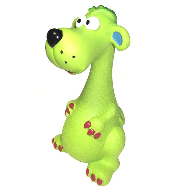 Игрушка для собак V.I.Pet Собака0120710Прочная игрушка V.I.Pet Собака изготовлена из натурального латекса с использованием только безопасных нетоксичных красителей. Великолепно подходит для игры и массажа десен вашей собаки. Игрушка не позволит скучать вашему питомцу ни дома, ни на улице.