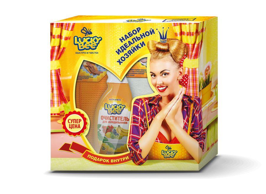 Набор чистящих средств для кухни Lucky Bee, 4 предмета391602Набор чистящих средств для кухни Lucky Bee включает очиститель стеклокерамических поверхностей, очиститель для духовок и микроволновых печей, салфетку из микрофибры и салфетки для рук. Очиститель стеклокерамических поверхностей гарантированно растворяет и удаляет бытовые загрязнения, пригоревшие масложировые отложения со стеклокерамических поверхностей. Очищает быстро, безопасно и без особых усилий. Придает сияющую чистоту. Подходит для очистки эмалированных, нержавеющих и других элементов кухонного оборудования. Выпускается в форме спрея. Объем: 473 мл. Состав: деминерализованная вода, менее 5%: ПАВ, пирофосфат калия, комплексообразователь, ингибитор коррозии, эмульгатор, эфир пропиленгликоля, консервант, отдушка, краситель. Очиститель для духовок и микроволновых печей эффективно растворяет и удаляет бытовые загрязнения, пригоревшие масложировые отложения и остатки пищи с поверхностей микроволновых печей, духовых шкафов, кухонного и столового оборудования. Выпускается в форме спрея. Объем: 500 мл. Состав: очищенная вода, менее 15%: ПАВ, активные добавки, менее 5%: отдушка. Двухсторонняя салфетка изготовлена из плотной износостойкой ткани из синтетических микроволокон. Сторона с абразивной сеткой удаляет стойкие загрязнения различного происхождения с твердых неокрашенных и нелакированных покрытий, гладкая сторона эффективно очищает и полирует их. Может использоваться для сухой и влажной уборки, в том числе с моющими средствами. Не оставляет разводов и ворсинок. Размер салфетки: 30 х 40 см. Плотность: 300 г/м2. Материал: микрофибра. Салфетки для рук с алоэ вера быстро удаляют загрязнения, эффективно уничтожают большинство патогенных микроорганизмов и смягчают кожу, а также придают приятный аромат и ощущение чистоты. Состав салфетки: нетканое полотно, пропитывающий лосьон. Состав пропитывающего лосьона: деминерализованная вода, пропиленгликоль, динатриевая соль ЭДТА, кокамидопропил бетаин, цетримониум хлорид,