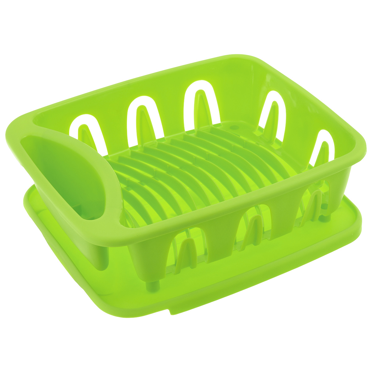 Сушилка для посуды Dommix, цвет: салатовый, 35,5 х 31 х 13 см21395599Сушилка для посуды Dommix, выполненная из высококачественного пластика, представляет собой подставку с ячейками, в которые помещается посуда, и отделением для столовых приборов. Сушилка оснащена пластиковым поддоном для стекания в него воды.Ваши тарелки высохнут быстро, если после мойки вы поместите их в легкую, яркую, современную пластиковую сушилку.Сушилка для посуды Dommix станет незаменимым атрибутом на вашей кухне.Размер сушилки: 35,5 см х 31 см х 13 см. Размер поддона: 35 см х 31 см х 0,8 см.