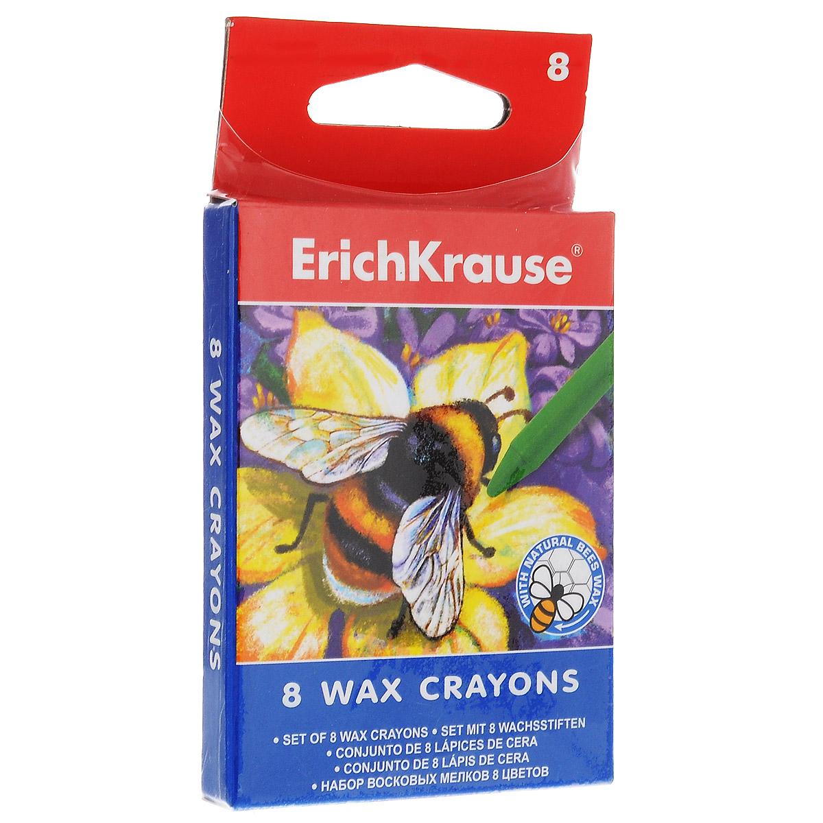 Мелки восковые Erich Krause, 8 цветов261102Восковые мелки Erich Krause Art Berry содержит мелки 8 ярких насыщенных цветов и оттенков. Мелки обеспечивают удивительно мягкое письмо, обладают отличными кроющими свойствами. Не токсичны и абсолютно безопасны. Подходят для рисования на бумаге и картоне. Имеют специально разработанный состав на основе пчелиного воска. Восковые мелки Erich Krause Art Berry откроют юным художникам новые горизонты для творчества, а также помогут отлично развить мелкую моторику рук, цветовое восприятие, фантазию и воображение, способствуют самовыражению.