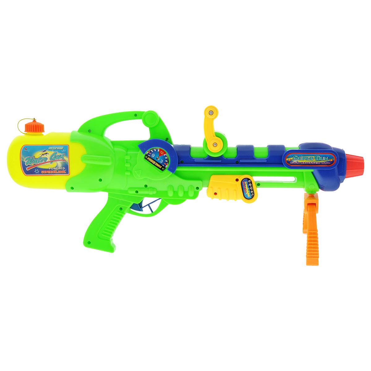 Водный бластер Bebelot Захват, цвет: зеленый, желтый игрушка бластер