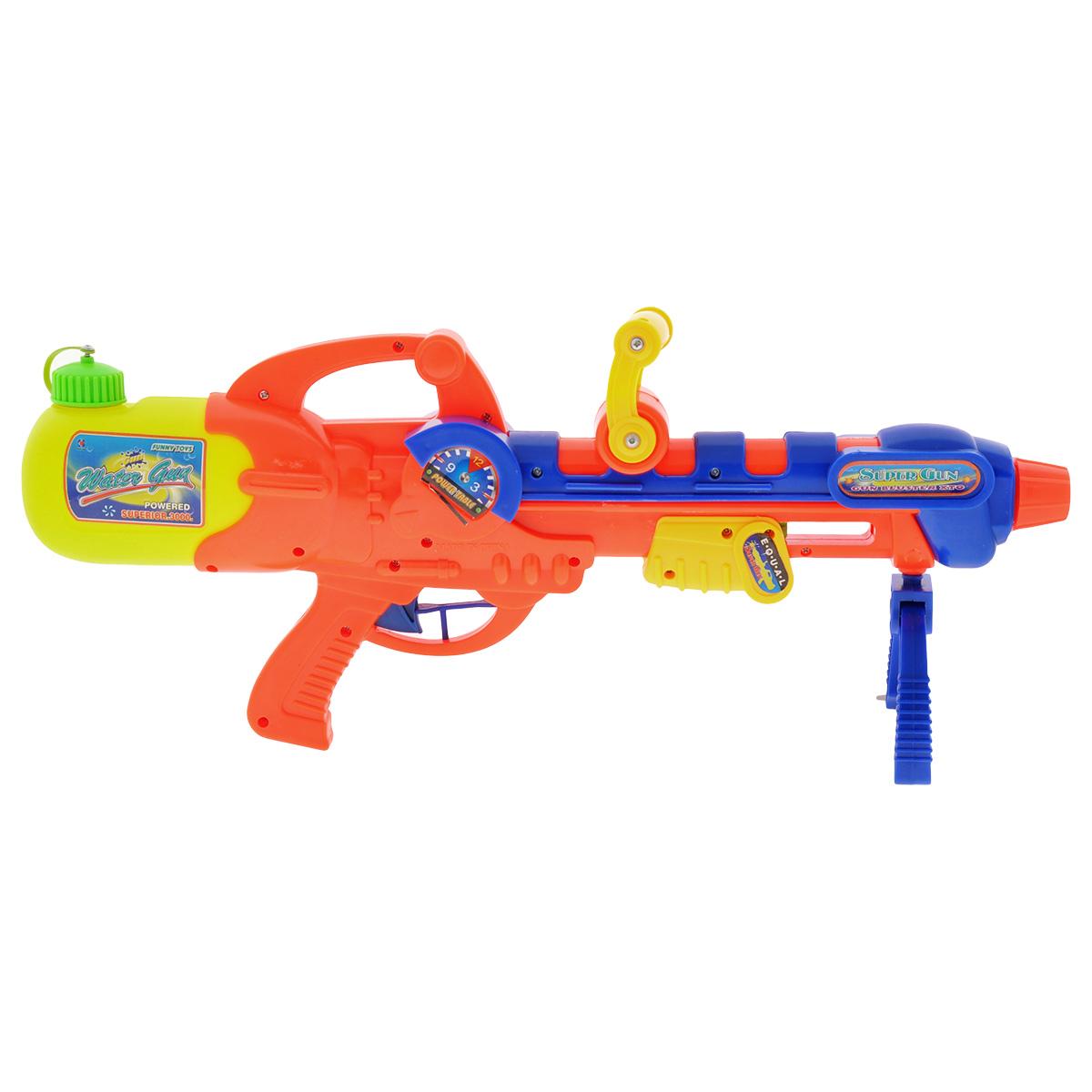 Водный бластер Bebelot Захват, цвет: оранжевый, синий игрушка для активного отдыха bebelot захват beb1106 045