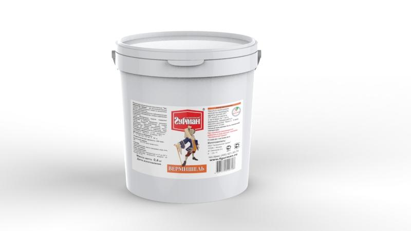 Вермишель моментального приготовления для собак Четвероногий гурман, ведро 400 г102104005Вермишель моментального приготовления для собак Четвероногий гурман производится из хлебопекарной муки с низким содержанием клейковины, затем подвергается термической обработке. Продукт изготовлен из экологически чистых ингредиентов, не содержит красителей, ароматизаторов, консервантов. Полезные свойства вермишели: - В состав входит пальмовое масло. Его получают из плодов гвинейской масличной пальмы - это единственное твердое растительное масло, близкое по составу к животному жиру. - Богатейший источник витамина E, который важен для профилактики заболеваний глаз, нервной системы, мышц и кожи. - Благодаря высокой калорийности вермишель рекомендуется для набора веса животным.Для приготовления вермишель необходимо залить горячей (не кипящей) водой и подождать, пока блюдо остынет до комнатной температуры. Состав: мука пшеничная, масло пальмовое, вода, соль, гуаровая камедь. Пищевая ценность в 100 г продукта: протеин 8 г, жир 21 г, углеводы 52 г. Витамины и минералы: Е 0,7 мкг, Ca 151 мг, P 99 мг. Энергетическая ценность: 430 ккал.Товар сертифицирован.