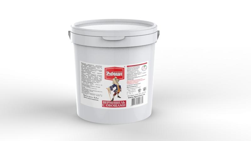 Вермишель моментального приготовления для собак Четвероногий гурман, с овощами, ведро 400 г20353Вермишель моментального приготовления для собак Четвероногий гурман производится из хлебопекарной муки с низким содержанием клейковины, затем подвергается термической обработке. Продукт изготовлен из экологически чистых ингредиентов, не содержит красителей, ароматизаторов, консервантов. Полезные свойства вермишели: - В состав входит пальмовое масло. Его получают из плодов гвинейской масличной пальмы - это единственное твердое растительное масло, близкое по составу к животному жиру. - Богатейший источник витамина E, который важен для профилактики заболеваний глаз, нервной системы, мышц и кожи. - Благодаря высокой калорийности вермишель рекомендуется для набора веса животным.Для приготовления вермишель необходимо залить горячей (не кипящей) водой и подождать, пока блюдо остынет до комнатной температуры. Состав: мука пшеничная, масло пальмовое, вода, соль, гуаровая камедь, морковь. Пищевая ценность (в 100 г продукта): протеин 8 г, жир 20 г, углеводы 50 г. Витамины и минералы: A 140,7 мкг, В4 1,6 мкг, E 0,8 мкг, Ca 146 мг, Mg 1,9 мг, K 10 мг. Энергетическая ценность: 414 ккал. Товар сертифицирован.