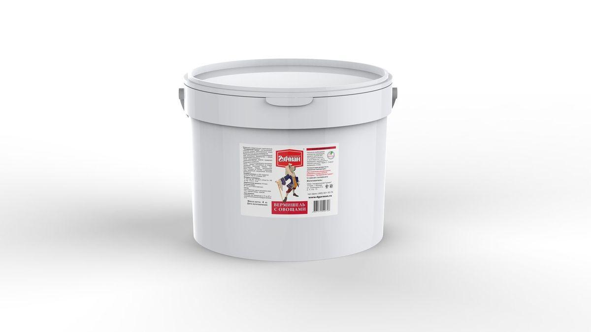 Вермишель моментального приготовления для собак Четвероногий гурман, с овощами, 4 кг102104001Вермишель моментального приготовления для собак Четвероногий гурман производится из хлебопекарной муки с низким содержанием клейковины, затем подвергается термической обработке. Продукт изготовлен из экологически чистых ингредиентов, не содержит красителей, ароматизаторов, консервантов. Полезные свойства вермишели: - В состав входит пальмовое масло. Его получают из плодов гвинейской масличной пальмы - это единственное твердое растительное масло, близкое по составу к животному жиру. - Богатейший источник витамина E, который важен для профилактики заболеваний глаз, нервной системы, мышц и кожи. - Благодаря высокой калорийности вермишель рекомендуется для набора веса животным.Для приготовления вермишель необходимо залить горячей (не кипящей) водой и подождать, пока блюдо остынет до комнатной температуры. Состав: мука пшеничная, масло пальмовое, вода, соль, гуаровая камедь, морковь. Пищевая ценность (в 100 г продукта): протеин 8 г, жир 20 г, углеводы 50 г. Витамины и минералы: A 140,7 мкг, В4 1,6 мкг, E 0,8 мкг, Ca 146 мг, Mg 1,9 мг, K 10 мг. Энергетическая ценность: 414 ккал. Товар сертифицирован.