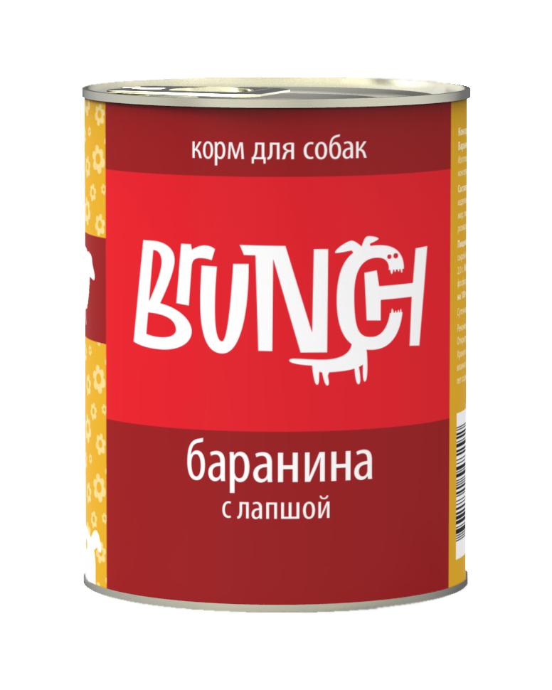 Консервы для собак Brunch Баранина с лапшой, 340 г0120710Консервы Brunch для собак — полноценные мясорастительные корма из натуральных ингредиентов. Помимо мяса и субпродуктов, продукт содержит крупы (каши) и овощи. Рецептура является уникальной разработкой компании. Пропорции определены в соответствии с научными исследованиями, отвечают потребностям домашних животных в питательных веществах. Корм максимально приближен к полному рациону.Состав: баранина, сердце, рубец говяжий, печень, макаронные изделия, масло растительное, желирующая добавка, рыбий жир, пивные дрожжи, йодированная соль, морские водоросли, розмарин, юкка шидигера, ферментированный рис.Вес: 340 г.