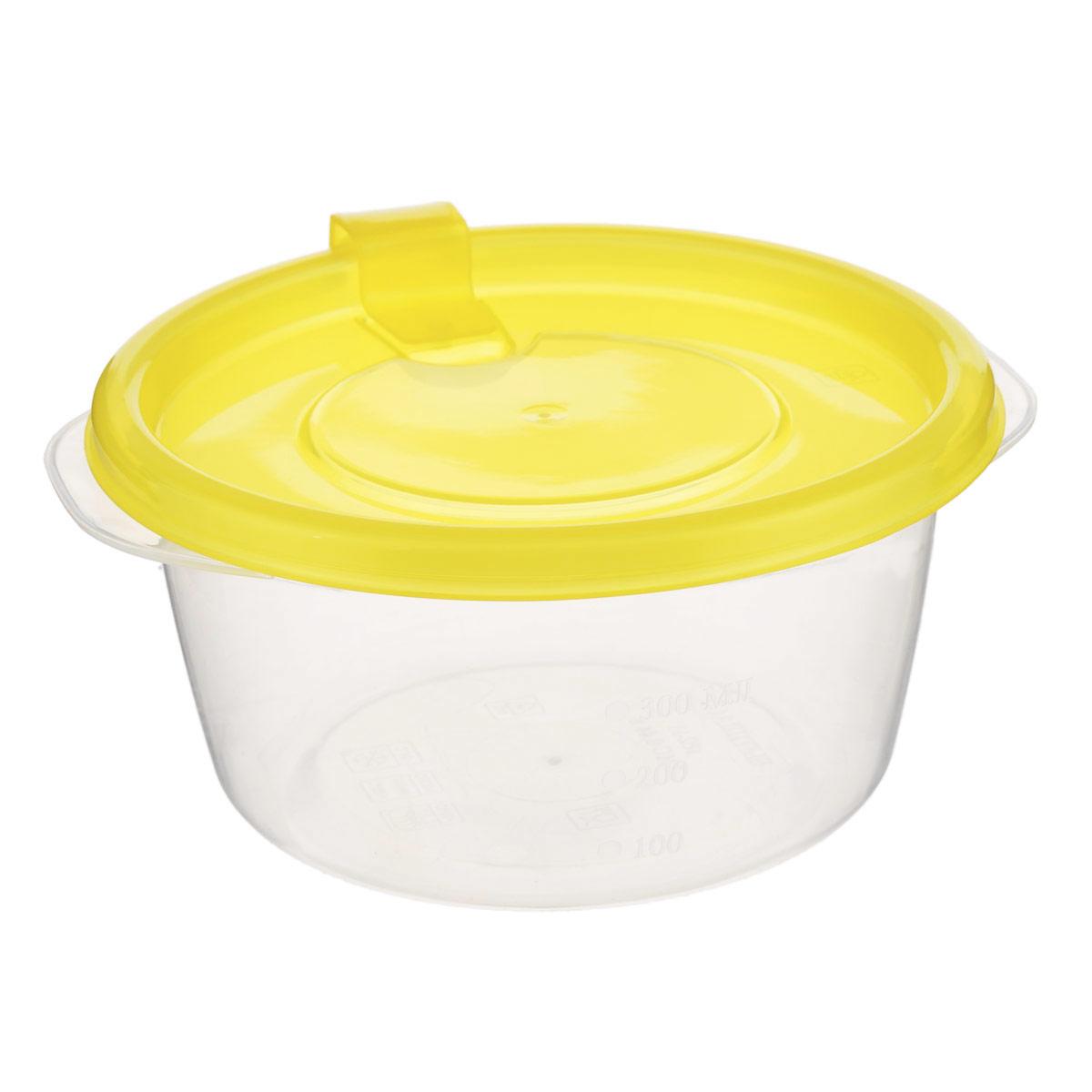 Контейнер Phibo Фрэш, цвет: прозрачный, желтый, 0,44 лВетерок-2 У_6 поддоновКонтейнер Phibo Фрэш выполнен из пищевого прозрачного полипропилена, без содержания Бисфенола А. Внешние стенки имеют отметки литража. Крышка оснащена клапаном, благодаря которому контейнер плотно и герметично закрывается. Такой контейнер очень функционален. Его можно использовать дома для хранения пищи в холодильнике, а также для хранения разнообразных сыпучих продуктов, таких как кофе, крупы, соль, сахар. Контейнер также удобно брать с собой на работу, учебу или в поездку. Можно использовать в микроволновой печи только для разогрева пищи и с открытым клапаном при температуре до +100°С. Подходит для заморозки пищи (минимальная температура -24°С). Можно мыть в посудомоечной машине. Диаметр контейнера (по верхнему краю): 12 см. Высота стенки: 6,5 см.