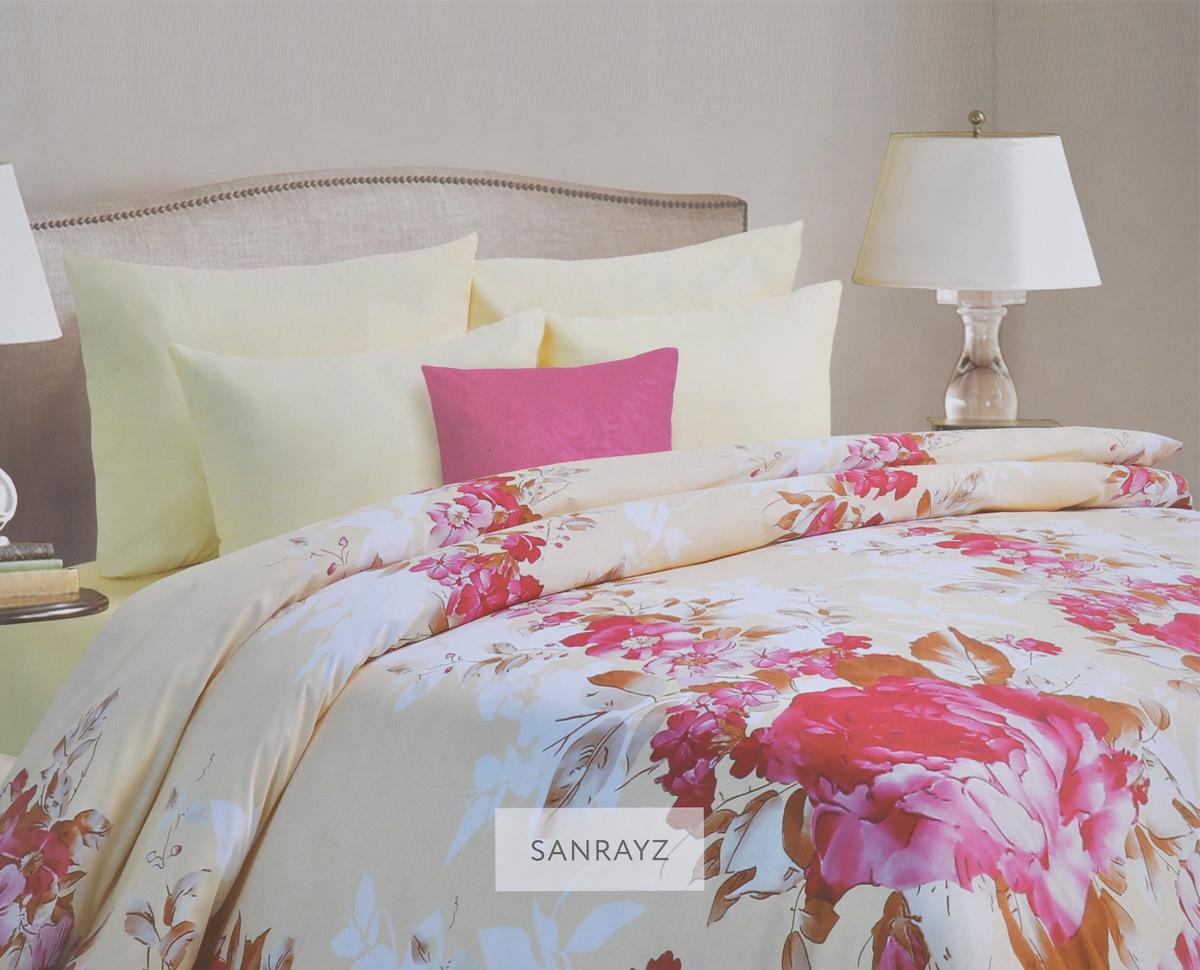 Комплект белья Mona Liza Sanrayz, семейный, наволочки 70х70, цвет: светло-бежевый, розовый. 562405/4CLP446Комплект белья Mona Liza Sanrayz, выполненный из батиста (100% хлопок), состоит из двух пододеяльников, простыни и двух наволочек. Изделия оформлены красивым цветочным рисунком. Батист - тонкая, легкая натуральная ткань полотняного переплетения. Ткань с незначительной сминаемостью, хорошо сохраняющая цвет при стирке, легкая, с прекрасными гигиеническими показателями. В комплект входит: Пододеяльник - 2 шт. Размер: 145 см х 210 см. Простыня - 1 шт. Размер: 215 см х 240 см. Наволочка - 2 шт. Размер: 70 см х 70 см. Рекомендации по уходу: - Ручная и машинная стирка 40°С, - Гладить при температуре не более 150°С, - Не использовать хлорсодержащие средства, - Щадящая сушка, - Не подвергать химчистке.