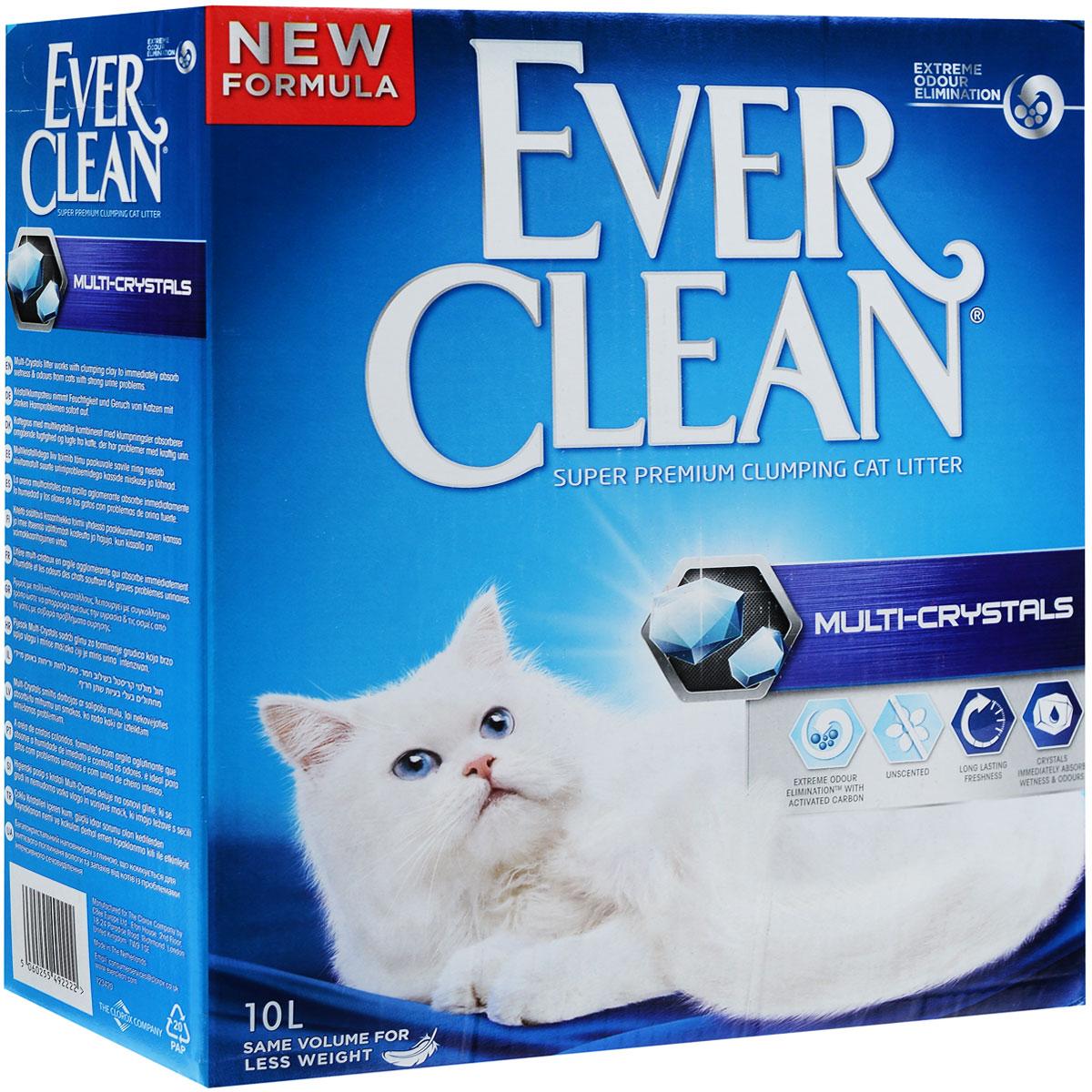 Наполнитель для кошачьего туалета Ever Clean Multi-Crystals, комкующийся, 10 кг204068016Наполнитель для кошачьего туалета Ever Clean Multi-Crystals состоит из специально обработанной и очищенной от пыли глины. Он содержит синие и зеленые кристаллы, совместно воздействующие на неприятные запахи и медленно блокирующие их, обеспечивает максимальный контроль над запахом. Наполнитель отлично подходит для устранения самых сильных запахов. Гранулы наполнителя Ever Clean Multi-Crystals не только отлично впитывают, но и образуют крепкие трудноразбиваемые комки.Ever Clean - это элитная серия высококачественных комкующихся наполнителей для кошачьего туалета с уникальными свойствами. Наполнители созданы на основе запатентованной технологии и обеспечивают максимальное устранение запахов. В сердцевине каждой гранулы помещен активированный уголь. Капсулы активированного угля захватывают и удерживают неприятный запах внутри себя. Также в состав гранул входит антибактериальный компонент, который уничтожает бактерии, вызывающие неприятный запах.Состав: глина, активированный уголь.Вес: 10 кг. Товар сертифицирован.