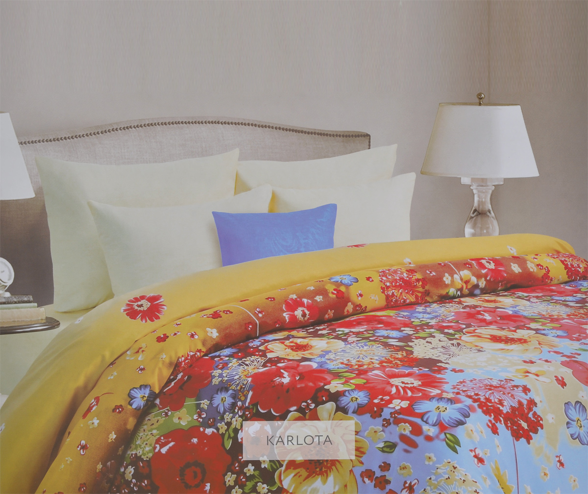 Комплект белья Mona Liza Karlota, 1,5-спальный, наволочки 70х70. 561114/5CA-3505Комплект белья Mona Liza Karlota, выполненный из батиста (100% хлопок), состоит из пододеяльника, простыни и двух наволочек. Изделия оформлены ярким цветочным рисунком. Батист - тонкая, легкая натуральная ткань полотняного переплетения. Батист, несомненно, является одной из самых аристократичных и совершенных тканей. Он отличается нежностью, трепетной утонченностью и изысканностью. Ткань с незначительной сминаемостью, хорошо сохраняющая цвет при стирке, легкая, с прекрасными гигиеническими показателями. Рекомендации по уходу: - Ручная и машинная стирка 40°С, - Гладить при температуре не более 150°С, - Не использовать хлорсодержащие средства, - Щадящая сушка, - Не подвергать химчистке.