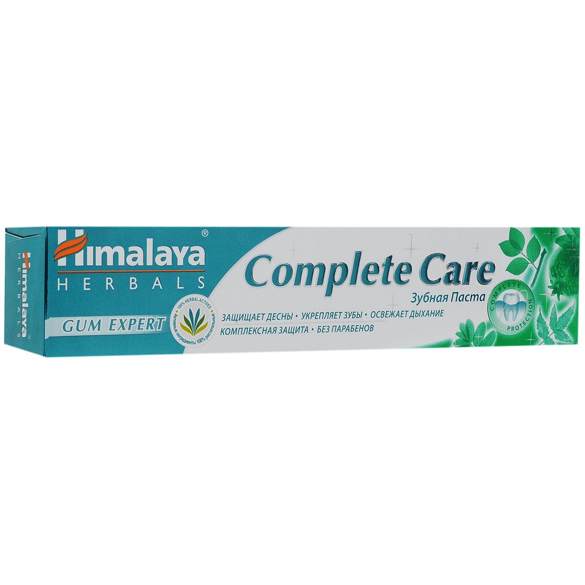 Himalaya Herbals, Зубная паста для комплексной защиты зубов и десен Complete Care, 75млКБ-173В состав зубных паст Himalaya Herbals Gum Expert входят мисвак и натуральные компоненты, которые защищают и тонизируют Ваши десны. Благодаря уникальной растительной формуле зубная паста Complete Care обеспечивает защиту от бактерий в течение 12 часов, препятствует формированию зубного налета. Мисвак и арабская акация предотвращают воспаление десен и снижают их кровоточивость. Благодаря натуральным антибактериальным свойствам ним эффективно борется с бактериями. Гранат - натуральное средство, которое оказывает эффективное тонизирующее действие на десны. Содержит фторид кальция (500 ppm F).