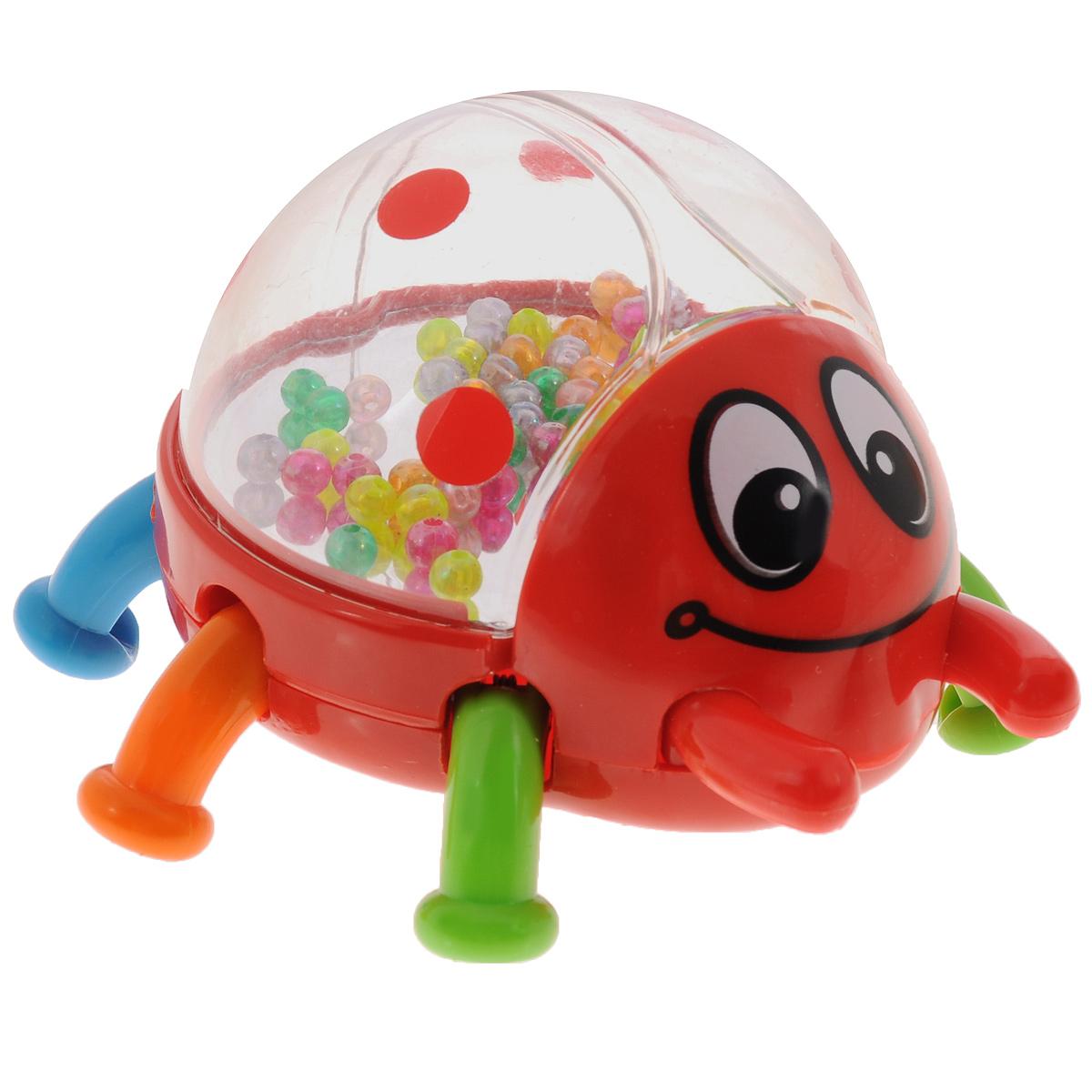 Развивающая игрушка-погремушка Mioshi Жук, цвет: красный развивающая игрушка погремушка mioshi черепашка