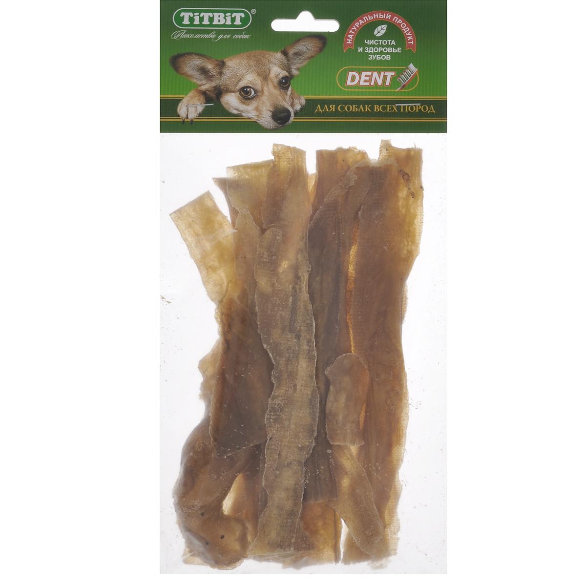 Лакомство для собак Titbit кишки говяжьи, хворост9090Лакомство для собак Titbit представляет собой высушенные на плоскости пластинки говяжьих кишок длиной 19 см. Упаковка содержит 8-10 штук. Легкоусвояемое лакомство, богатое витаминами и ферментами микрофлоры кишечника крупного рогатого скота. Имеет большую энергетическую ценность из-за повышенного содержания жира. Богато легко усвояемыми протеинами, которые содержат все незаменимые аминокислоты (усваиваются на 90-95%).Titbit содержит минеральные вещества в большем количестве, чем все остальные продукты (в том числе кальций, магний и фосфор), жирорастворимые витамины, а также водорастворимые витамины. Очищает зубы у мелких пород собак, продуктполезен для стимуляции пищеварения. Вкус: говядинаСостав: высушенные говяжьи кишки.Условия хранения: хранить в сухом прохладном месте. Товар сертифицирован.