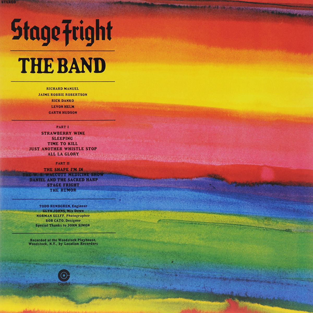 The Band The Band. Stage Fright (LP) the trespasser