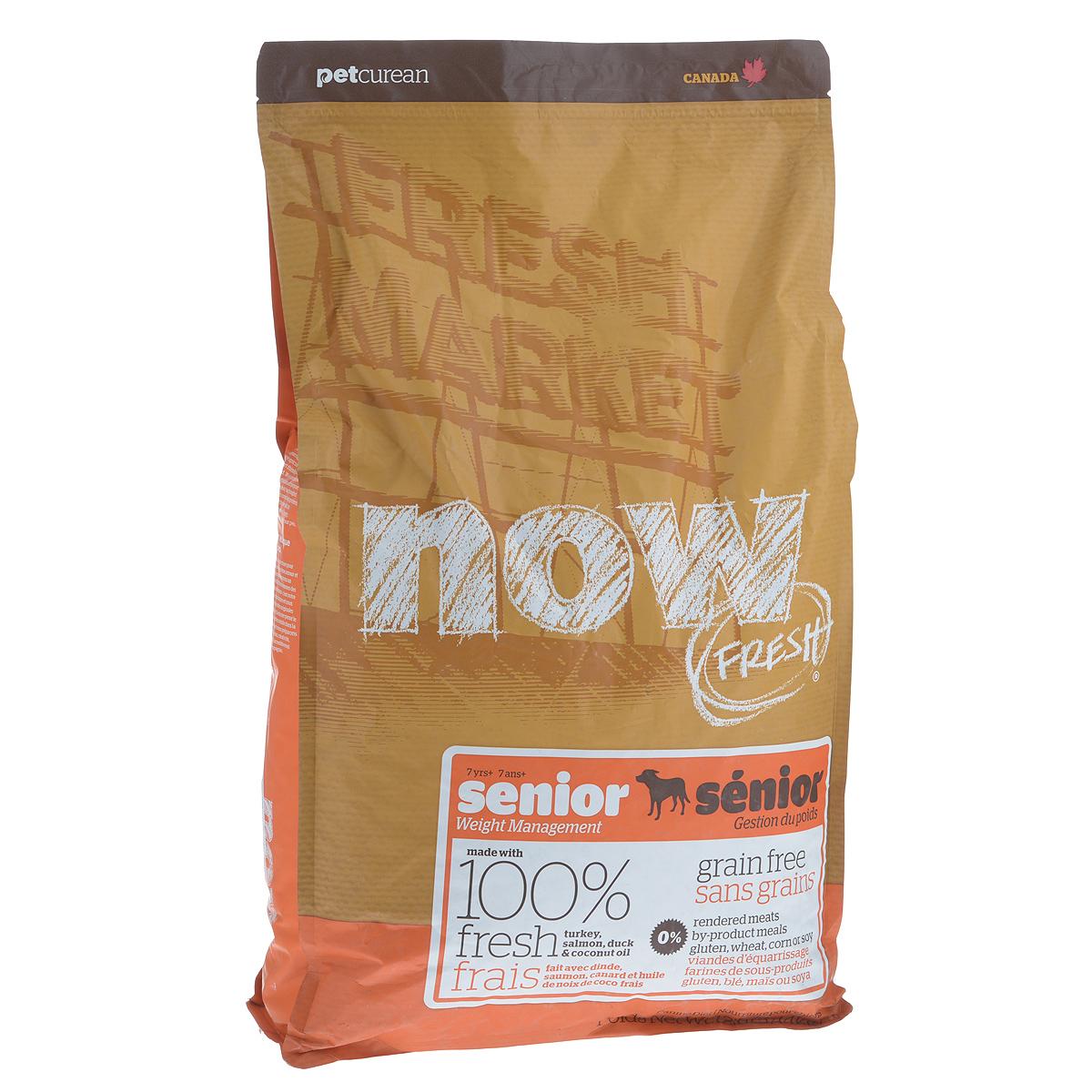 Корм сухой Now Fresh Контроль веса для собак, беззерновой, с индейкой, уткой и овощами, 5,44 кг12171996Now Fresh Контроль веса - полностью сбалансированный холистик корм из филе индейки и утки, выращенных на канадских фермах, из лосося без костей, выловленного в озерах Британской Колумбии. Прекрасно подходит собакам старше 7 лет и взрослым собакам (1-6 лет) с избыточным весом.Ключевые преимущества: - полностью беззерновой со сбалансированным содержание белков и жиров, - не содержит субпродуктов, красителей, говядины, мясных ингредиентов, выращенных на гормонах, - омега-масла в составе необходимы для здоровой кожи и шерсти, - пробиотики и пребиотики обеспечивают здоровое пищеварение, - антиоксиданты укрепляют иммунную систему. Состав: филе индейки, картофель, яблоки, горох, картофельная мука, томаты, сушеная люцерна, масло канолы (источник витамина Е), натуральный ароматизатор, утиное филе, филе лосося, кокосовое масло (источники витамина Е), свежие цельные яйца, семена льна, морковь, тыква, бананы, черника, клюква, малина, ежевика, папайя, ананас, грейпфрут, чечевица, брокколи, шпинат, творог, ростки люцерны, сушеные водоросли, карбонат кальция, дикальций фосфат, лецитин, хлорид натрия, хлорид калия, витамины (витамин Е, L-аскорбил-2-полифосфатов (источник витамина С), никотиновая кислота, инозит, витамин А, тиамина мононитрат, пантотенатD-кальция, пиридоксина гидрохлорид, рибофлавин, бета-каротин, витамин D3, фолиевая кислота, биотин, витамин В12), минералы (цинка протеинат, сульфат железа, оксид цинка, железа протеинат, сульфат меди, меди протеинат, марганца протеинат, оксид марганца, йодат кальция, селена, дрожжи), таурин, DL-метионин, L-лизин, глюкозамин гидрохлорид, сухой корень цикория, Lactobacillus, Enterococcusfaecium, Aspergillus, дрожжевой экстракт, экстракт юкки Шидигера, хондроитин сульфат, календулы, L-карнитин, сушеный розмарин. Гарантированный анализ: белки - 24%, жиры - 10%, клетчатка (max) - 6%, влажность (max) - 10%, фосфор (min) - 0,7%, глюкозами