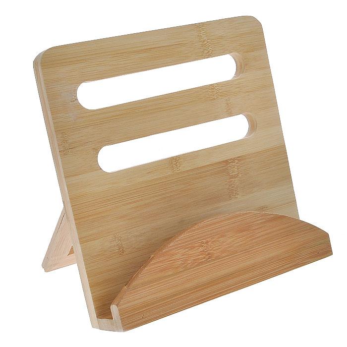 Подставкадля кулинарной книги House & Holder, 24 х 23,5 х 6,5 смVT-1520(SR)Подставка House & Holder прямоугольной формы выполнена из бамбука и предназначена для книг. Оснащена складывающейся ножку. С такой подставкой готовить блюда по разнообразным рецептам станет еще проще и удобнее.