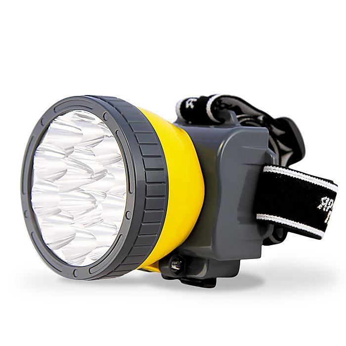 Фонарь налобный Яркий Луч LH-15AKOC-H19-LEDОсновные характеристики фонаря.Материал корпуса: ABS пластик.Источник света: 15 светодиодов, 40 лм. срок службы 50 000 часов.Аккумулятор: герметичный кислотно-свинцовый 4В 800 мАч, количество циклов заряда более 300,(в комплекте)время зарядки аккумулятора 5 часов. Режим 1. 5LED - 8 часов.Режим 2. 15LED - 2,5 часов. Технические характеристики: аккумулятор 4В 800 мАч,(в комплекте)источник света – 15 светодиодов.