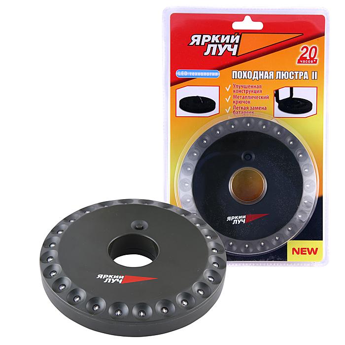 Фонарь кемпинговый Яркий Луч LT-2406-2LT-2406-2Описание: Светодиодный фонарь кемпинг Количество ламп: 24 светодиода, 80лм.Питание: 4хАA (R06), в комплект не входятМатериал корпуса: ABS пластикРазмеры: 18 x 135 мм (высота х диаметр)Дополнительно: Откидывающийся металлический крючок для подвешивания и крепления фонаря, продолжительное время работы. Влагозащитная конструкция.