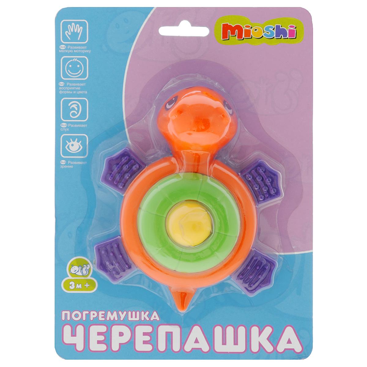 Развивающая игрушка-погремушка Mioshi Черепашка развивающая игрушка погремушка mioshi черепашка